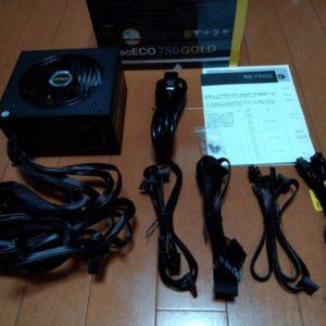【自作PC】PC電源ユニットの付属品と内容物を確認しよう!【Antec NE750 GOLD 80PLUS&NE650C】